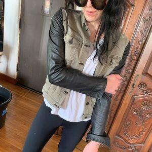 Denim & leather jacket